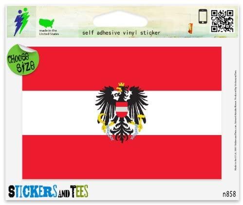 Austria Austian Flag Vinyl Car Bumper Window Sticker 5 x 4