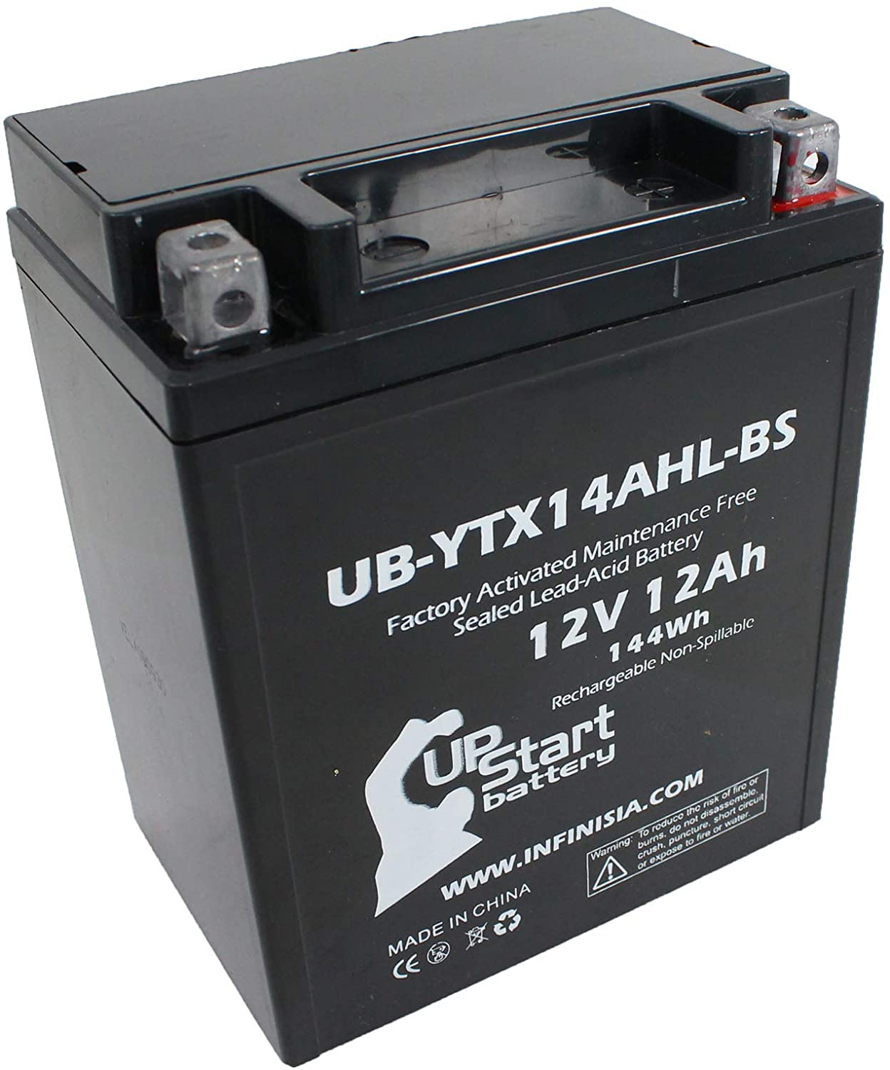 Replacement for YTX14AHL-BS Battery 12V 12AH SLA - Compatible with 1978 Yamaha Xs650, 1979 Suzuki Gs1000, 1979 Yamaha Xs650, 1980 Yamaha Xs650, 1981 Yamaha Xs650, 1978 Suzuki Gs1000, 1975 Yamaha Xs650