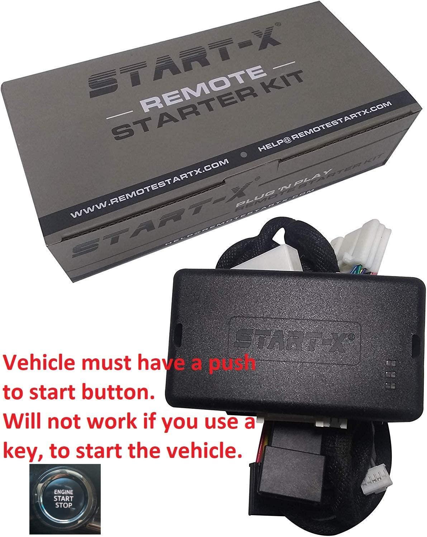 Start-X Plug N Play Remote Starter for 4Runner 2010-19, Sienna 2011-2020    Push to Start Only    Lock 3X to Remote Start