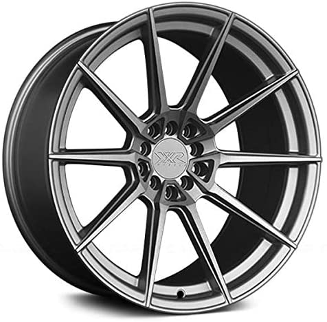 XXR 567 Brushed Silver Wheel with Painted (18 x 8.5 inches /5 x 100 mm, 35 mm Offset)