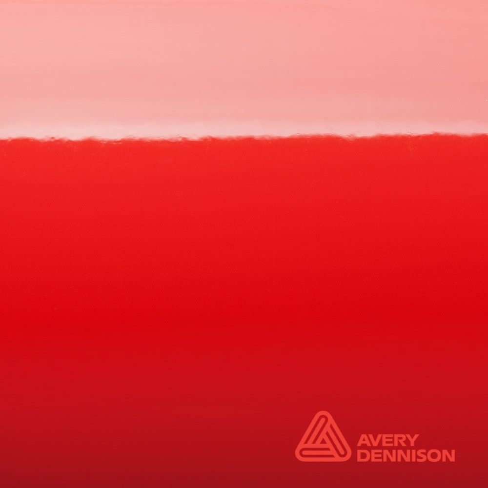 Avery Supreme Wrapping Film Avery Gloss Red Vinyl Car Wrap Sheet - 75ft x 5ft (900