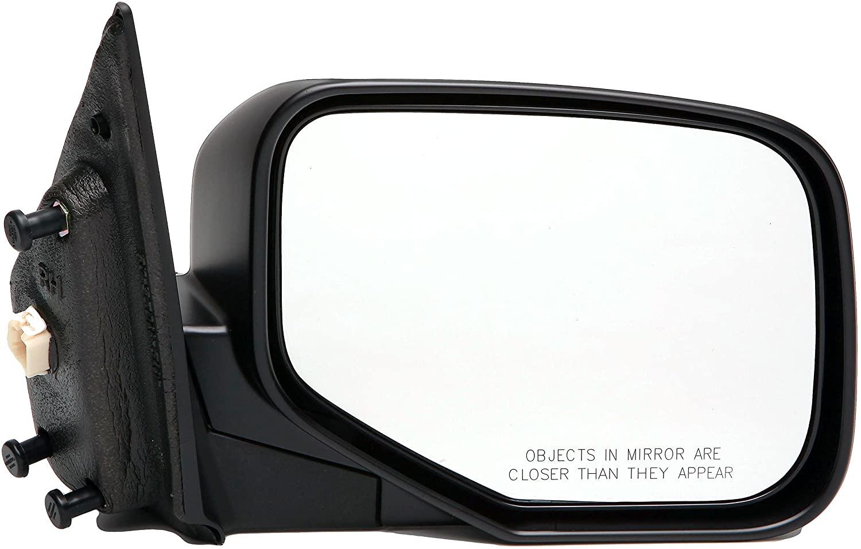 Dorman 955-1711 Passenger Side Power Door Mirror - Folding for Select Honda Models, Black