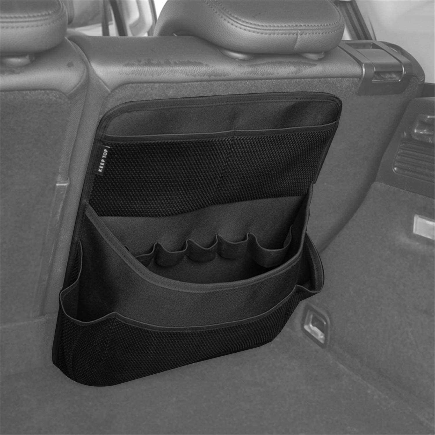 YOCTM Backseat Trunk Organizer for SUV & Car Fits 2018 2019 Jeep Wrangler JL JLU Sports Rubicon 2020 Gladiator JT Organizer Interior Accessories