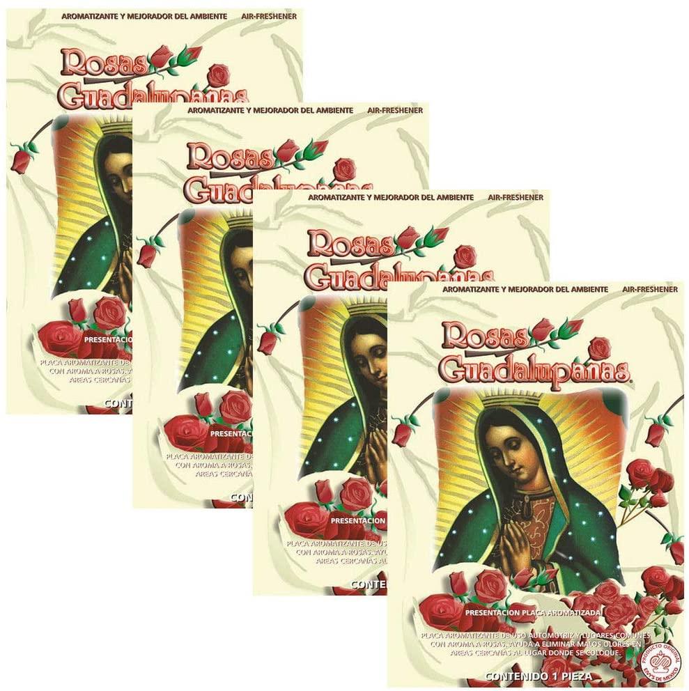 1clickautoacc Rosas Guadalupana Car Air Freshener Deodorant Aromatizante 4pcs - Roses Scent