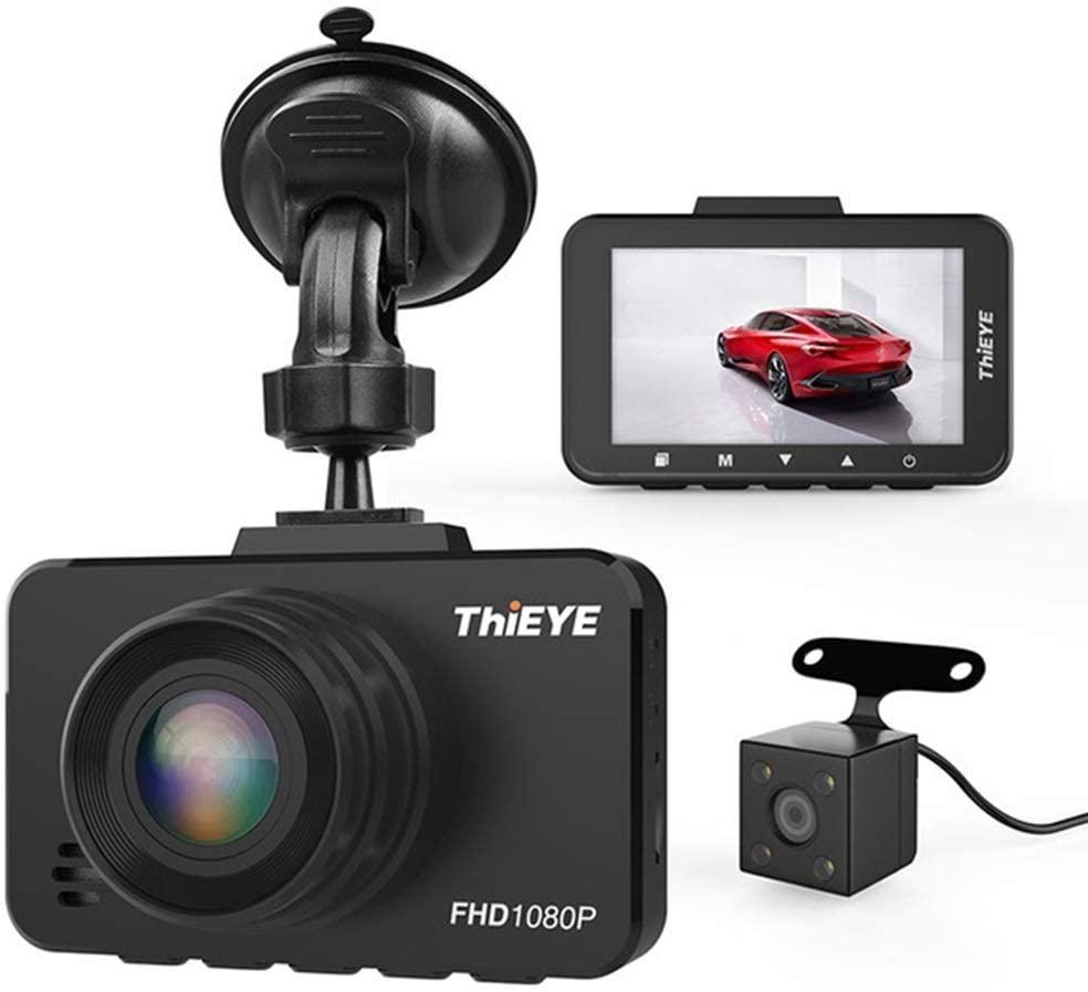 RUNWEI Dash Cam,Car Driving Recorder, Dash Cam Front and Rear 1080P Dashboard Camera, Waterproof Backup Camera Driving Recorder