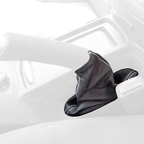 RedlineGoods ebrake Boot Compatible with Volvo V50 2006-13. Black Alcantara-Red Thread