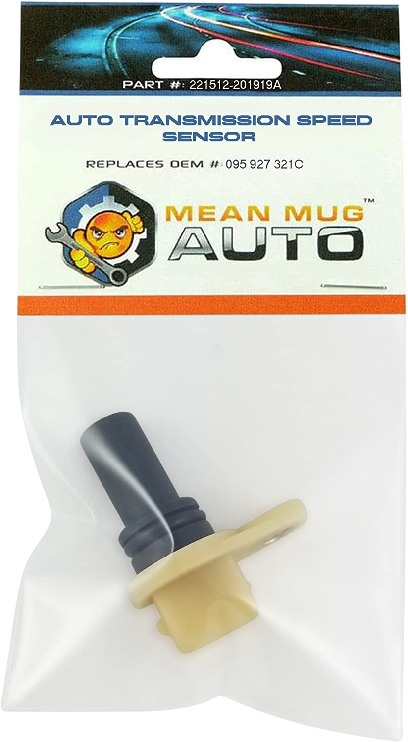 Mean Mug Auto 221512-201919A Auto Transmission Speed Sensor - Compatible with Vehicles & More - Replaces OEM #: 095-927-321C
