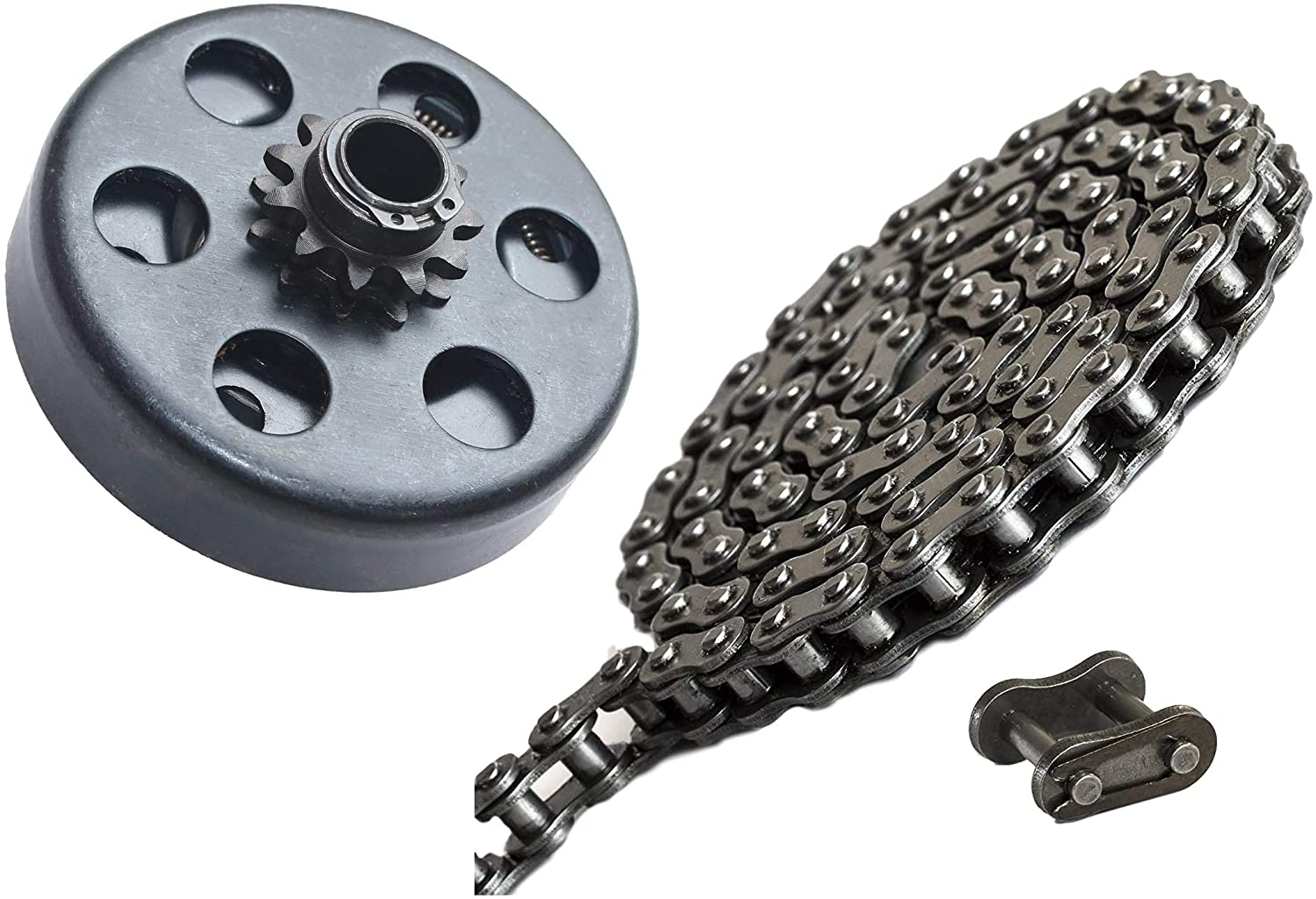 FDJ 11 Tooth Centrifugal Clutch with 35 Roller Chain 10 Feet with Connecting Link