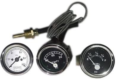 David Brown Tractor Temp Gauge + Oil Pressure + Fuel Gauge (set)