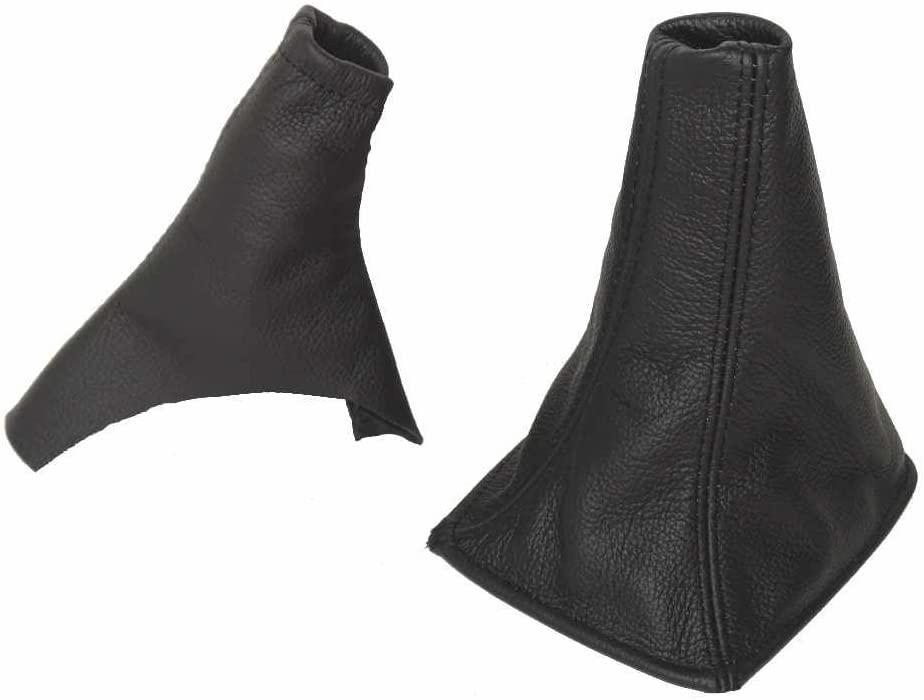 The Tuning-Shop Ltd For Toyota Celica 1999-05 Shift E Brake Boot Black Italian Leather