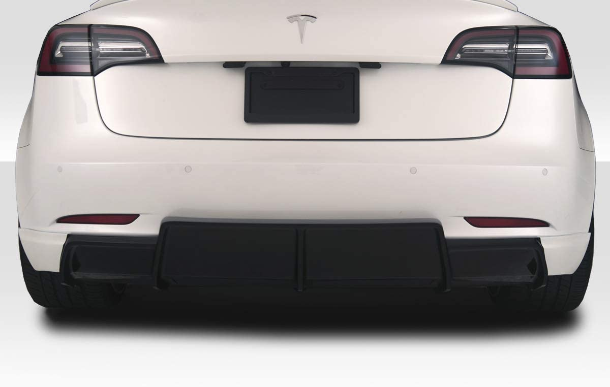 Compatible With/Replacement For Duraflex ED-LOF-743 GT Concept Rear Lip/Add On - 1 Piece - Compatible With/Replacement For Model 3 2018-2020