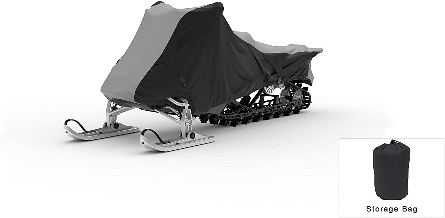 Weatherproof Snowmobile Cover Compatible With 2019 Ski-doo Grand Touring Limited 900 Ace Turbo - Outdoor & Indoor - Protect From Rain Water, Snow, Sun - Trailerable - Storage Bag