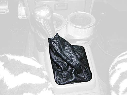 RedlineGoods bota/funda para palanca de cambios Compatible with Mazda MX6 1988-92. Cuero Negro Costura Azul