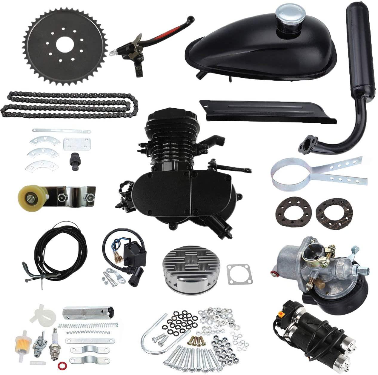 JRL 2 Stroke Petrol Gas Motor 80cc Cycle Bike Motorized Engine Kit For Motor Bicycle