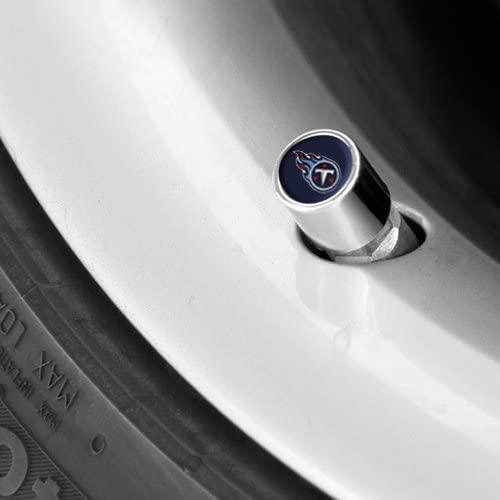 Tennessee Titans Chrome Valve Stem Caps