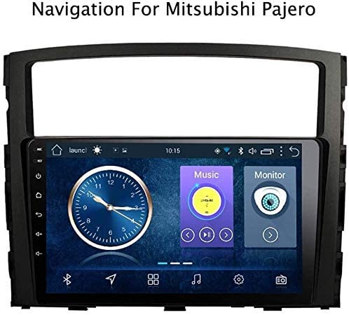 gaoweipeng GPS Navigation for Mitsubishi Pajero 2006-2014 Car Stereo 9 inch Touch Screen Video Player 2DIN Android 8.1 Mirror Link FM AM AUX USB SWC RDS