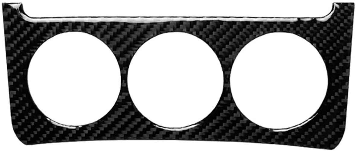 hors Carbon Fiber Instrument Dashboard Media Control Button Panel Frame Decal Cover Trim for Nissan 350Z 2006-2009