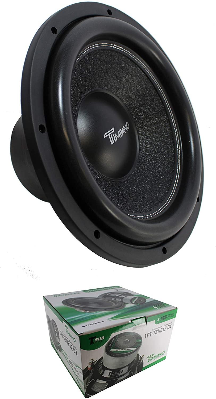 12 Subwoofer 1600W 4 Ohm DVC Pro Car Audio Bass Timpano TPT-TSUB12 D4