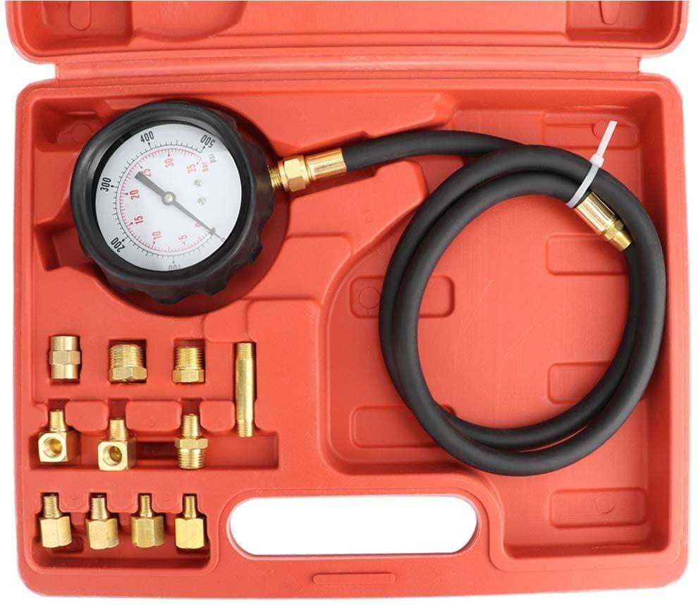 Oil Pressure Gauge 13Pcs Universal Car Auto Oil Pressure Guage System Engine Compression Tester Tool