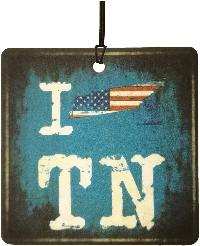 I Love Tennessee Volunteer State Car Air Freshener