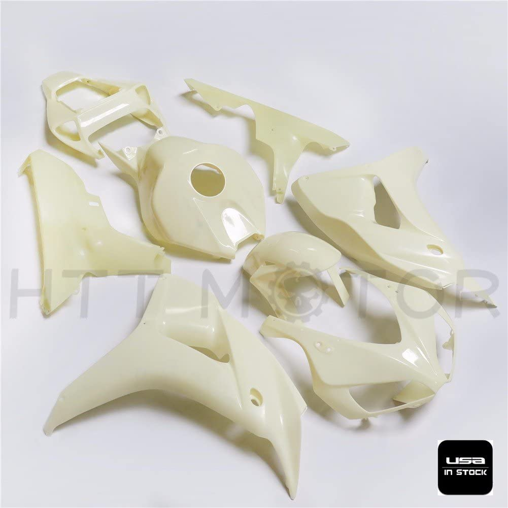 HTTMT CBR1000-0607- ABS Injection Fairings Kit BodyWork Compatible with Honda CBR 1000 RR 2006-2007 Unpainted