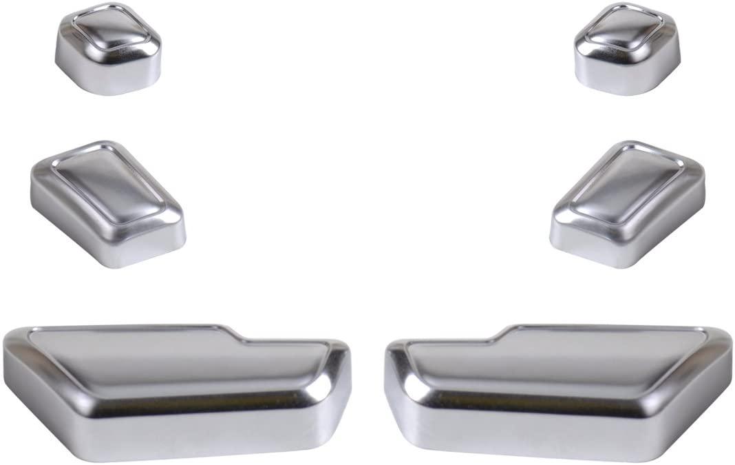 beler 6pcs Car Interior Door Seat Adjuster Button Switch Cover Trim for Mercedes-Benz B E GLK GL Class W246 W212 X204 X166