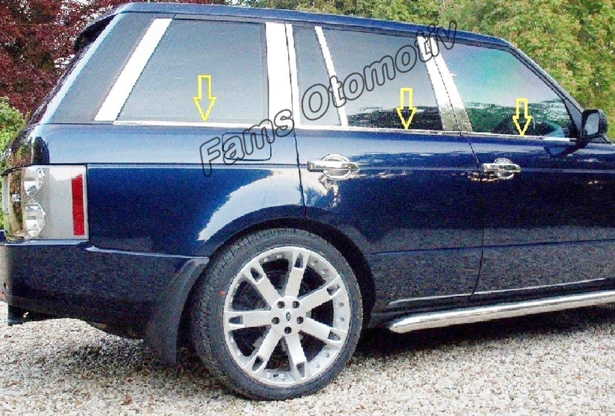 HACOL FOR Range Rover L322 Vogue Chrome Windscreen Streamer 6 pieces P.Steel 2002-2012