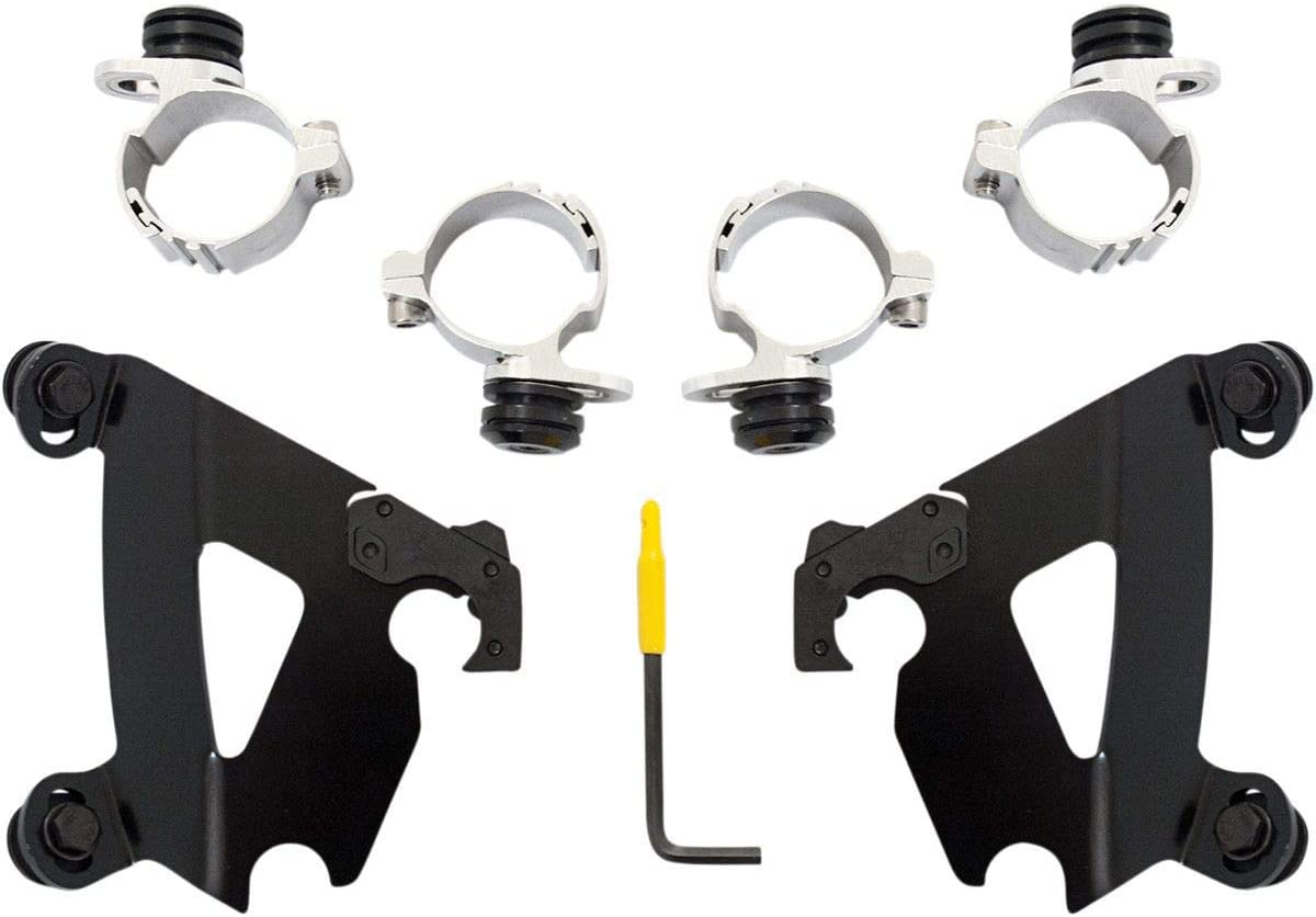 Memphis Shades Trigger-Lock Mounting Kit (Black/Cafe Fairing) for 96-10 Harley XL1200C