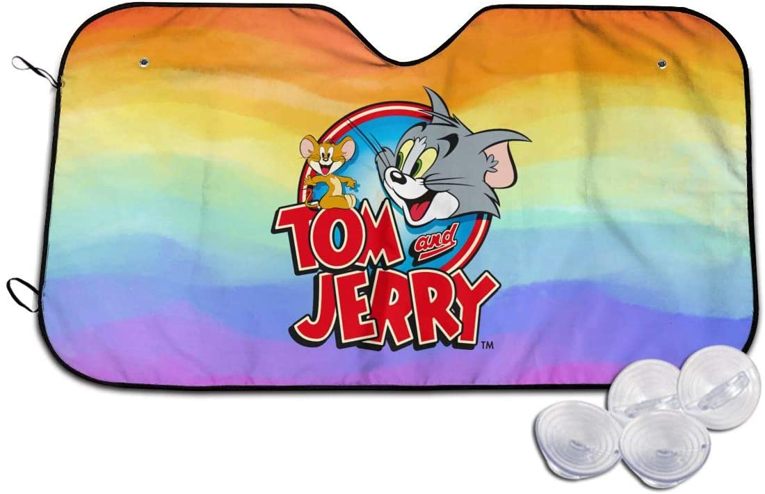Tom and Jerry Auto Sunshade Car Sun Windshield Protection Car SUV Truck