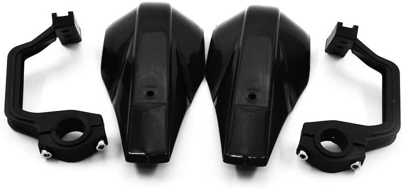 JFG RACING Black Handguards Universal Hand Guards Brush Bar For off Road ATV Yamaha Kawasaki Suzuki For Honda Motorcycle Pit Dirt Bike Motocross
