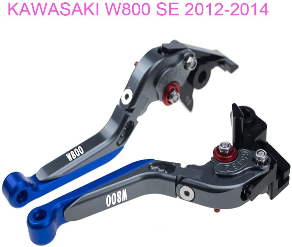 PRO-KODASKIN Folding Extendable Brake Clutch Levers for KAWASAKI W800/SE 2012-2014 (Blue)