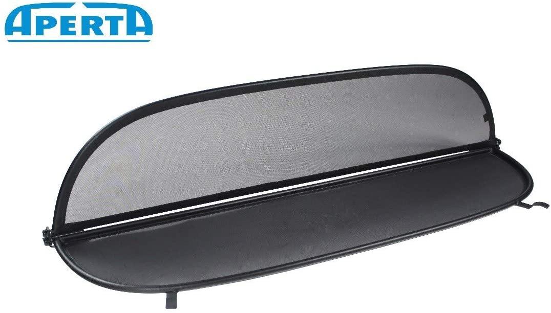 Aperta Black Wind Deflector Compatible with Mercedes-Benz C-Class | Tailor Made Windblocker | Draft-Stop | Windstopper Mercedes-Benz Convertible