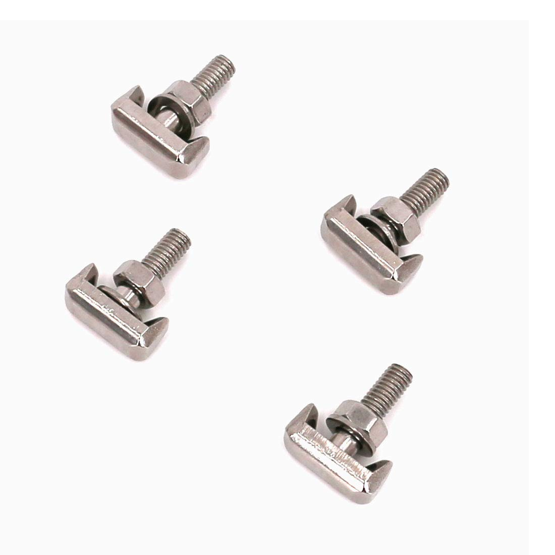 UTSAUTO Battery Terminal T-Bolt Kit 19116852 64740 Battery Cable Tensioner Bolt Screw 4-Pack for GMC Chevrolet BMW, Replaces 6X0-915-138 6X0915138 61128373946