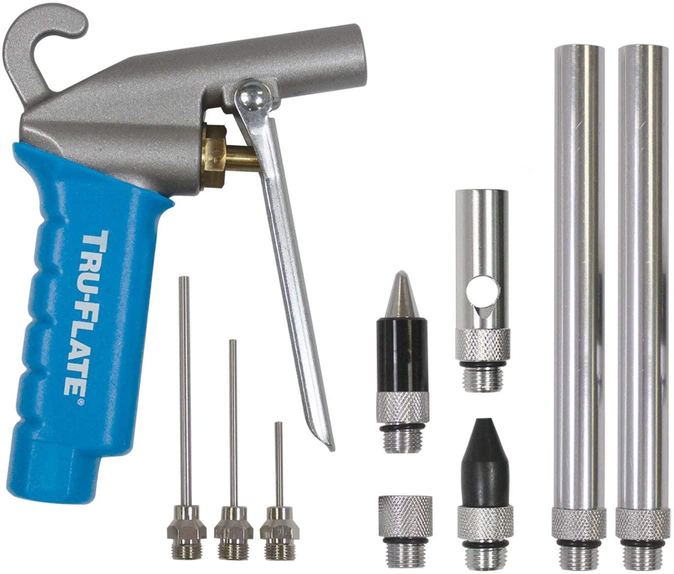 Plews & Edelmann Tru-Flate 18-613 F1 Series 40 CFM HI FLO Blowgun Kit, 10 Piece,