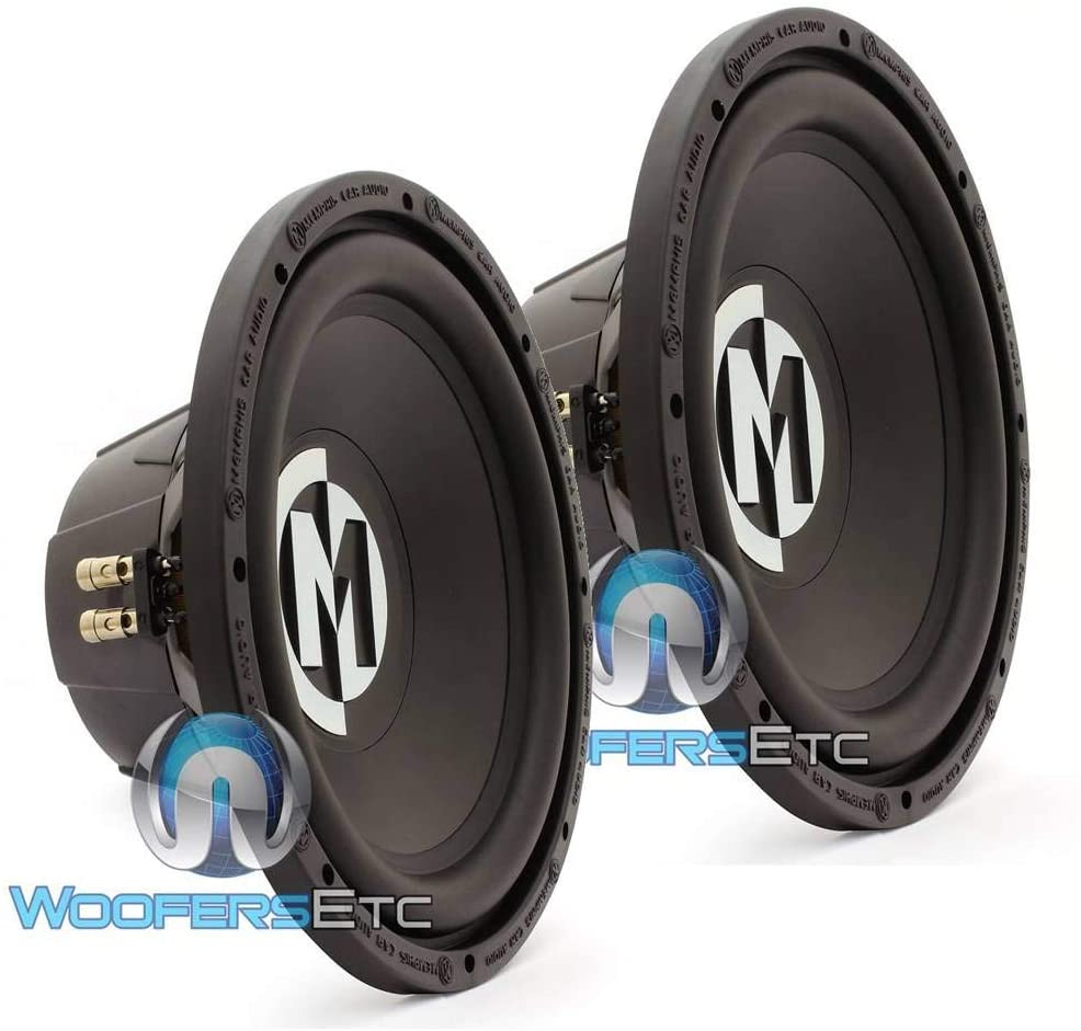 Pair of Memphis 15-SRX12D4 12 500W RMS Dual 4-Ohm Street Reference Subwoofer