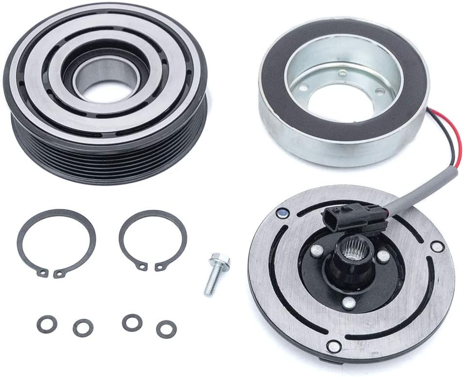AC Compressor Clutch Assembly Repair Kit CO 11319C 92600JP01C Fit for 2009-2014 Nissan Maxima 3.5L, 2009-2014 Nissan Murano 3.5L, 2011-2014 Nissan Quest 3.5L, 2013-2015 Nissan Pathfinder 3.5L