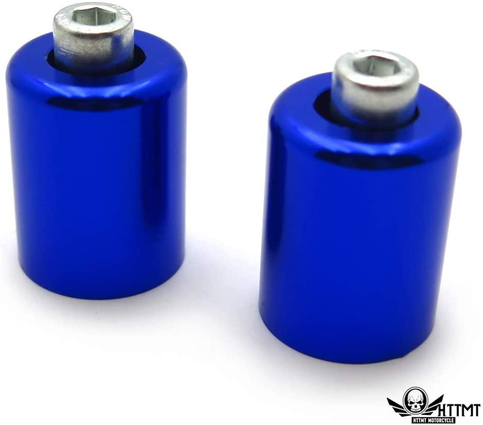 SMT- Blue Bar Ends Compatible With Kawasaki Ninja 250 500 Zx600 Zx6 636 Zzr600 Zx6R Zx6Rr NOLOGO