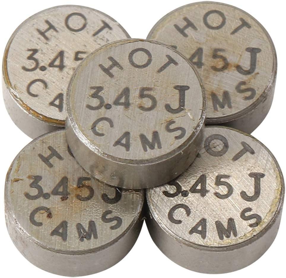 Hot Cams 3.45mm 5 Piece Shim Kit 5PK748345 for Honda CRF, Kawasaki KX & Suzuki RMZ Dirt Bikes