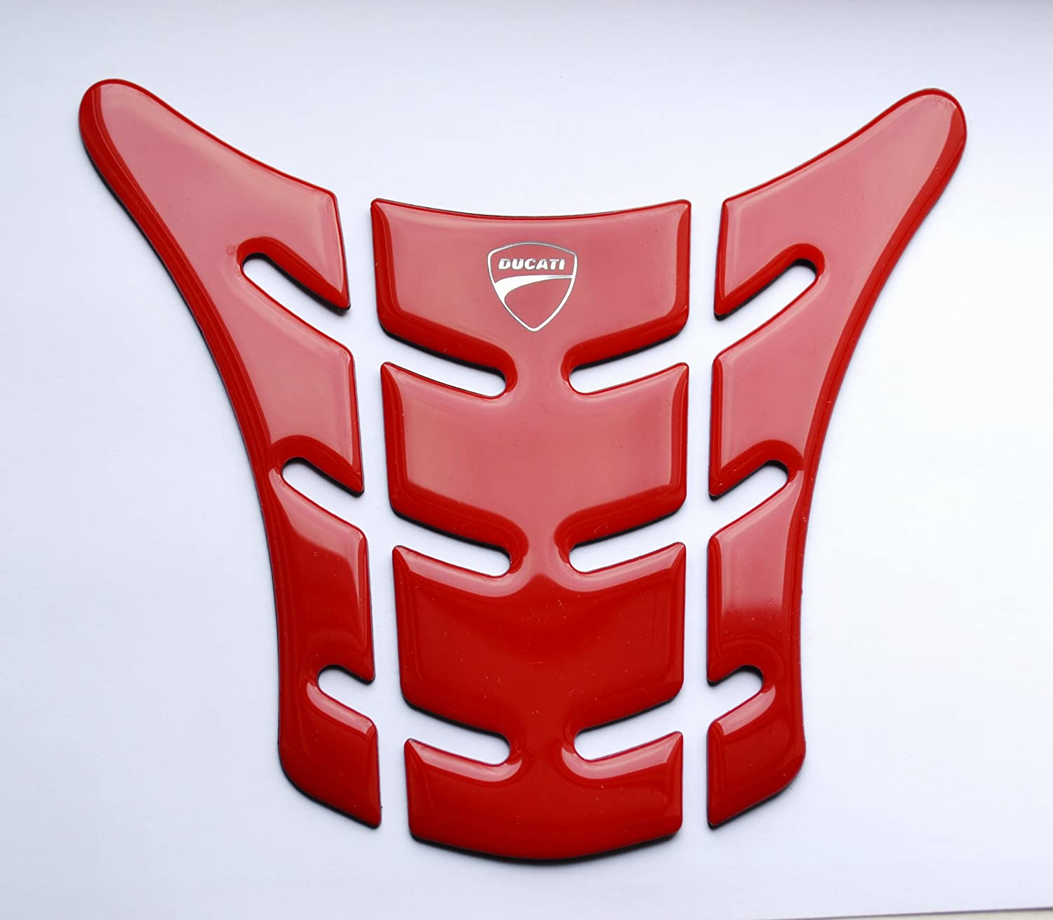Red Plastic Motorcycle Tank Protector Pad for Ducati Monster 696 796 1100