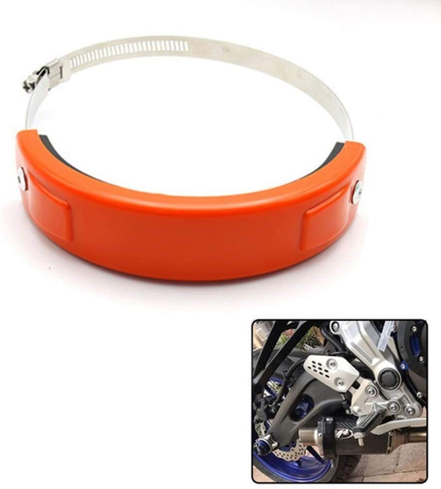 Motorcycle Exhaust Heat Shield Protector Guard Cover,Cover Heel Guard,100mm-160mm Universal Dirt Bike Silencer Exhaust Muffler Protector Can Cover Guard (Color : Orange)
