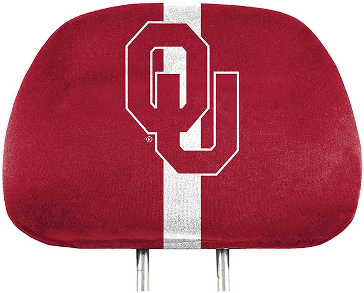 Oklahoma Sooners PRINTED Color Elastic Auto Head Rest Covers Pair University of