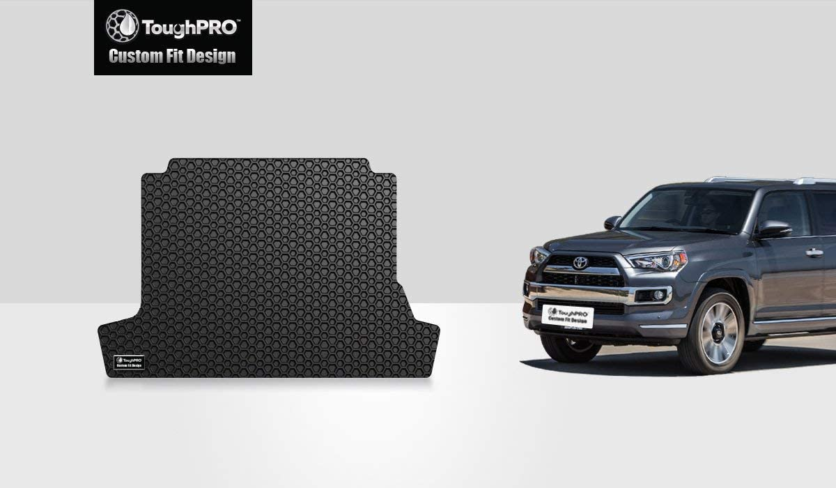 TOUGHPRO Cargo/Trunk Mat Accessories Compatible with Toyota 4Runner (with 3rd Row Seating & No Cargo Tray)-Black Rubber- 2010, 2011, 2012, 2013, 2014, 2015, 2016, 2017, 2018, 2019, 2020, 2021