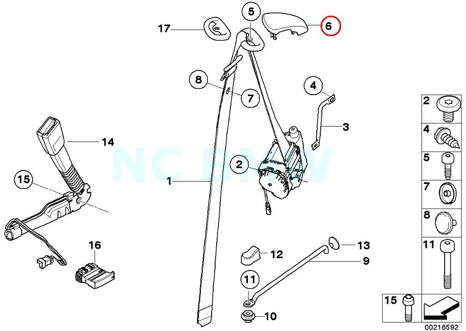 BMW Genuine Belt Deflection Left Cover