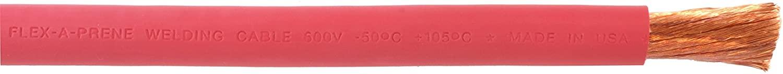 #2 Gauge AWG - Flex-A-Prene - Welding/Battery Cable - Red - 600 V - Made in USA (5 FEET)