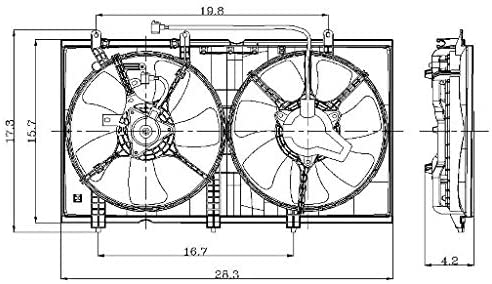 Global Parts Dist 2811551 Engine Cooling Fan Assembly