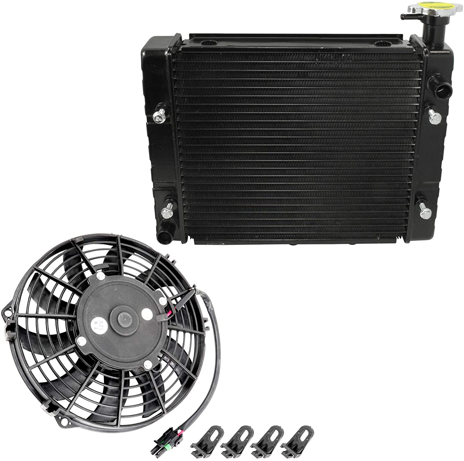 Caltric Radiator Cooling Fan for Can-Am Outlander 800/ Max 800 4X4 Std Xt Ltd 2006 2007 2008