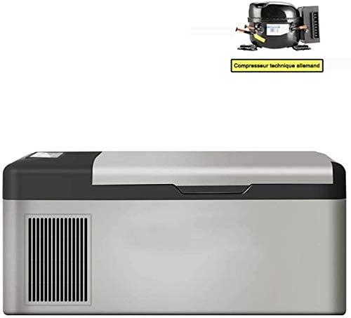 WUAZ 15L Portable Fridge Freezer,Car Refrigerator Car Fridge with Compressor for Vehicle Truck RV Camping Travel Outdoor Driving, -20 ° C - 20 ° C, 12/24V