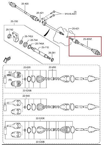 Mazda 5 2012-2015 New Genuine OEM Drive Shaft Driver side (L) FP10-25-60XA Auto