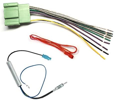 Car Stereo Radio Wire Harness and Antenna Adapter Combo to Install an Aftermarket Radio for select 2014+ GM Vehicles - No Factory Premium Amp - See compatible vehicles below