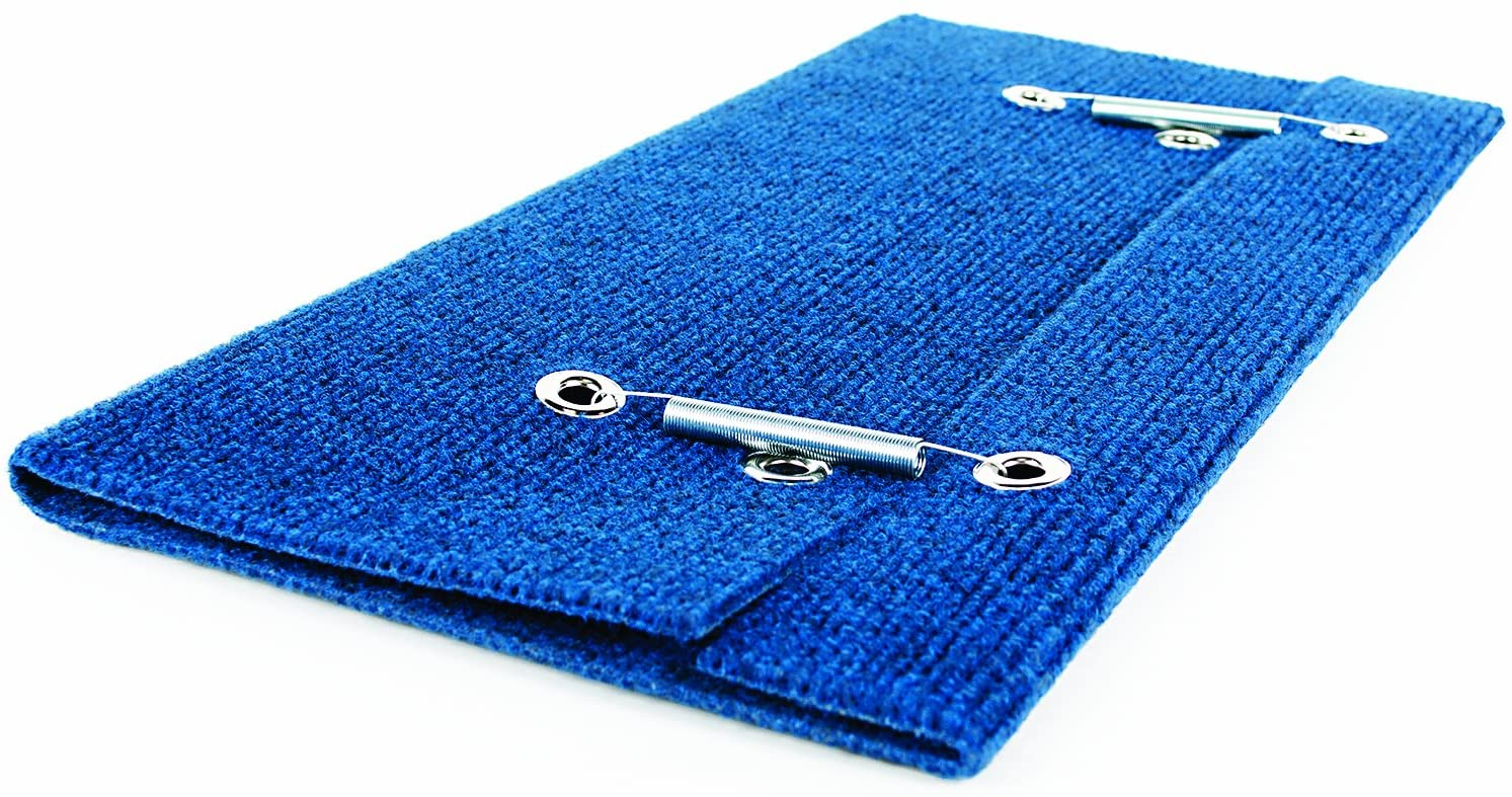 Camco Wrap Around Step Rug- Protects Your RV from Unwanted Tracked in Dirt, Works on Electrical and Manual RV Steps (Blue) (42924)